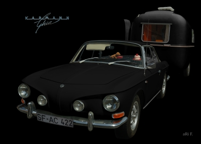 VW Karmann-Ghia Typ 34 Poster kaufen in black & darkblack
