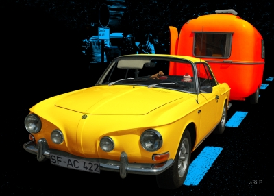 VW Karmann-Ghia Typ 34 in black & yellow