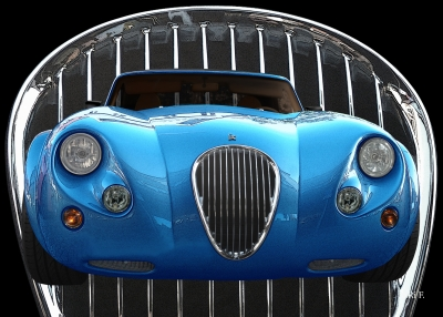 Wiesmann Roadster MF3 in blue with Radiator