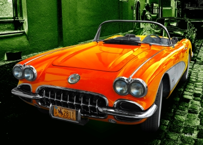 Corvette C1 Poster in street art 02