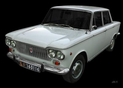 Fiat 1500 Poster in Originalfarbe
