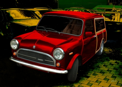 Innocenti Mini 850 Traveller in red