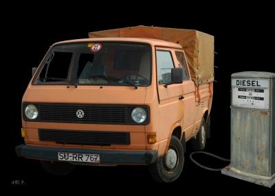 VW Typ 2 T3 Doka Pritsche gebaut von 1979-1992 (Originalfarbe)