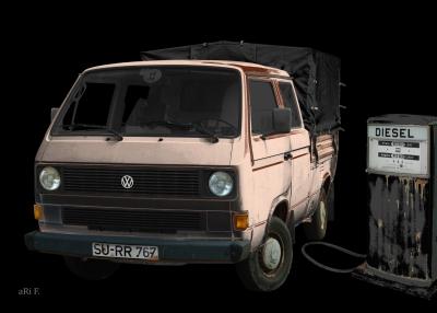 VW-Bus Typ 2 T3 Doka Pritsche (deutscher Oldtimer 1979-1992)