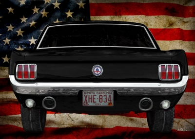 Ford Mustang Poster 1. Generation Oldtimer Poster kaufen