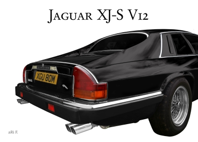 Jaguar XJS Classic Car Poster for sale