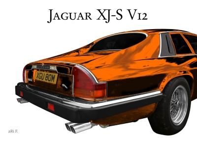 Jaguar XJS Oldtimer Poster for sale