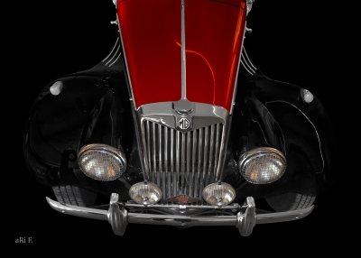MG Midget TF Poster in black & red for sale