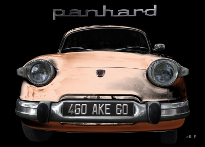 Panhard PL 17b Poster in brwon Frontansicht