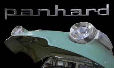 Panhard PL 17b Motorhaube Poster in Originalfarbe