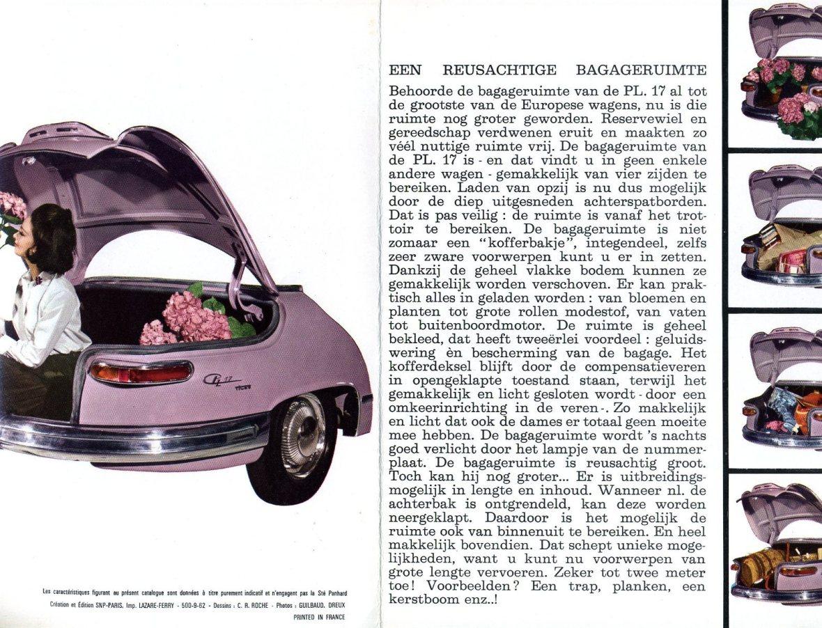 Panhard PL 17 Verkaufsbroschüre