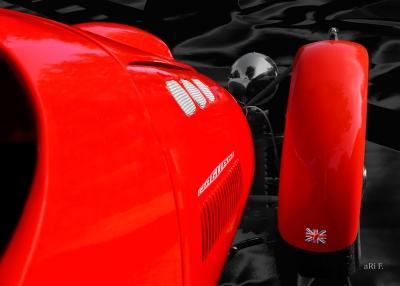 Ronart Jaguar W152 detail Poster in original colors