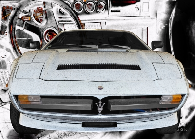 Maserati Merak SS Art Poster