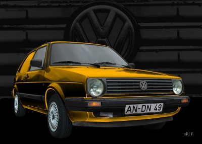 VW Golf 2 (Typ 19E) Poster