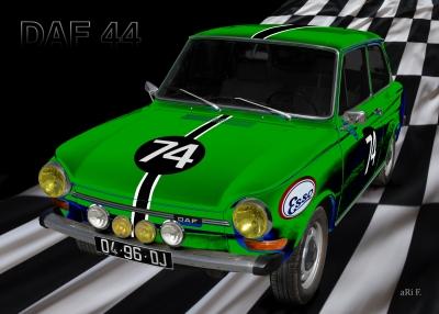 DAF 44 - Semperit Rally Oostenrijk Poster in green