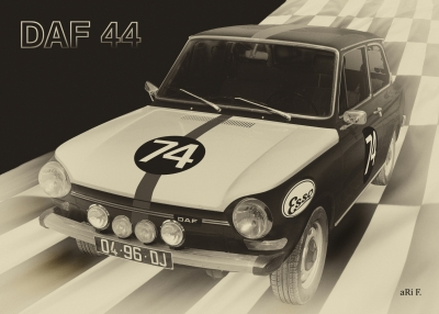 DAF 44 Rallye Poster kaufen