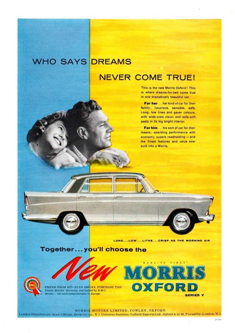 Morris Oxford Series V Advertising