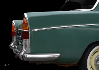 Morris Oxford Series V Poster with rear fins