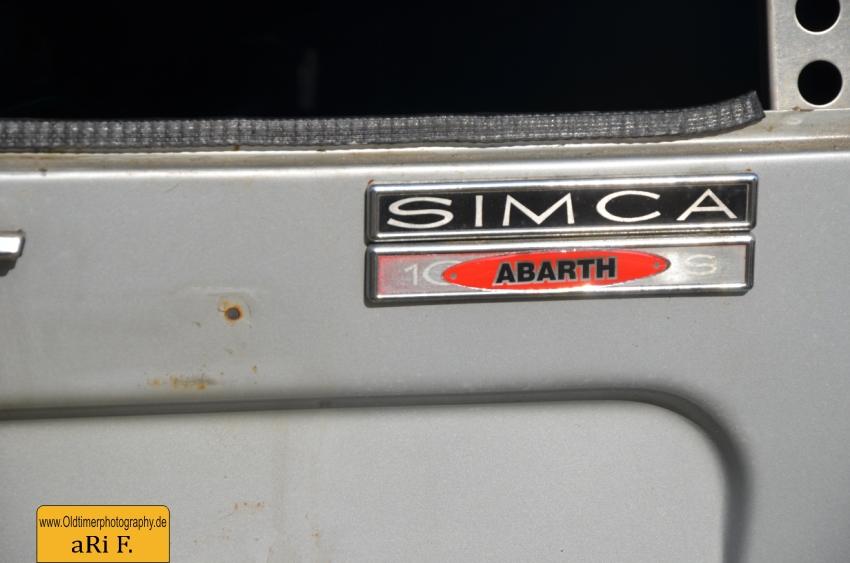 Simca Abarth Heckansicht