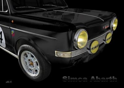 Simca Abarth 1150 Poster kaufen