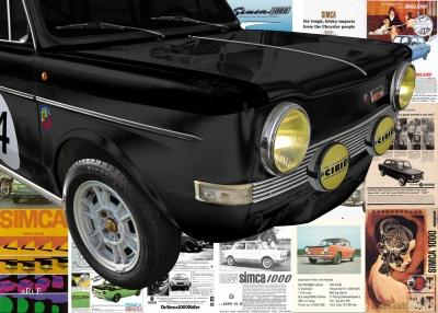 Simca Abarth Rallye Poster kaufen
