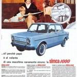 Simca 1000 Werbung publicité Advert Pubblicità