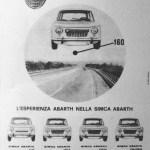 Simca Abarth 1150 Werbung publicité Advert Pubblicità
