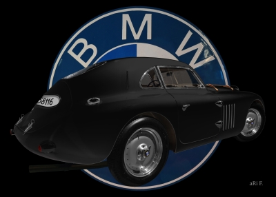 BMW 328 Touring Coupé Le Mans Advertising
