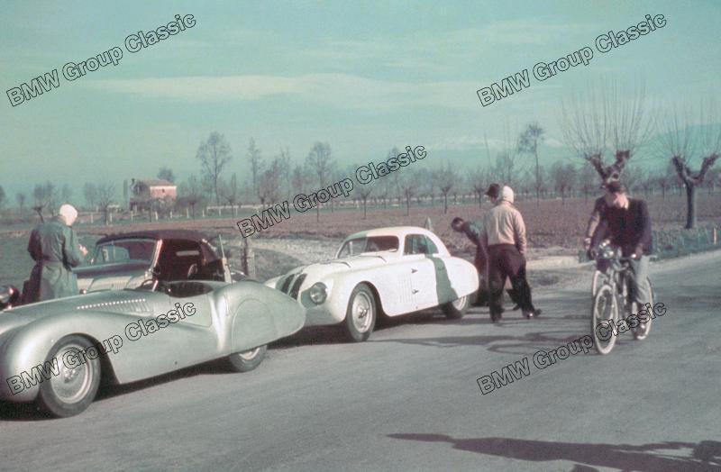 Impressionen von der Hinfahrt zum Training zur Mille Miglia 1940