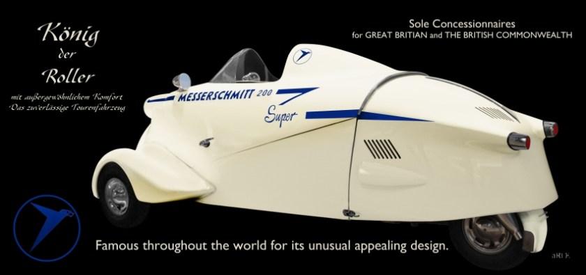 Messerschmitt KR 200 Super Auto Werbung Poster