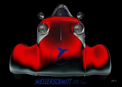 Messerschmitt KR 200 Super Roller Rekordfahrzeug