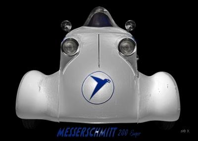 Messerschmitt KR 200 Super Poster Frontansicht Rekordfahrzeug