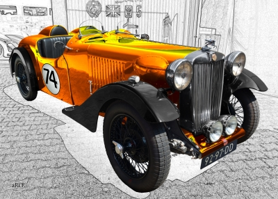 MG VA Tourer Special for racing Poster