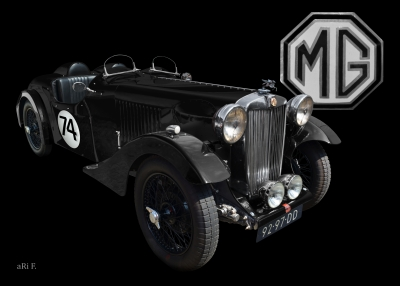 MG VA Tourer Ralley Le Mans Poster