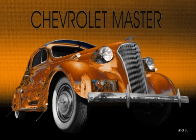 Chevrolet Master Business Coupe 1937 Poster by aRi F.