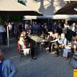 MAC Singen Vernissage-Gäste 2. Juni 2017 im Innenhof des MAC Singen