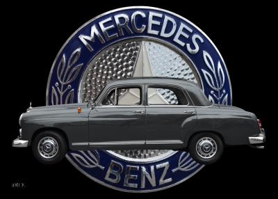 Mercedes-Benz 190 Db Ponton mit Mercedes Logo