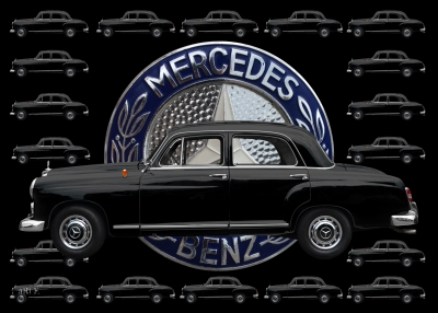 Mercedes-Benz 190 Db mit Original Mercedes-Logo