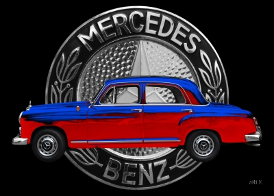 aRt-Car Mercedes-Benz 190 mit Mercedes-Logo