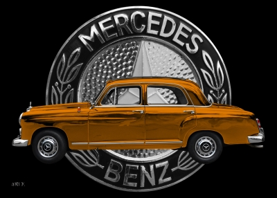 Mercedes-Benz 190 mit Mercedes-Logo