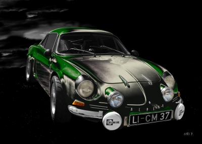 Alpine A110 Art Car by aRi F. in Langenargen
