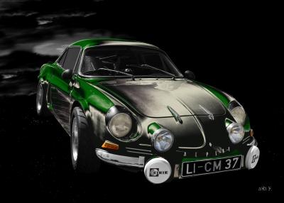 Alpine A110 Art Car by aRi F.