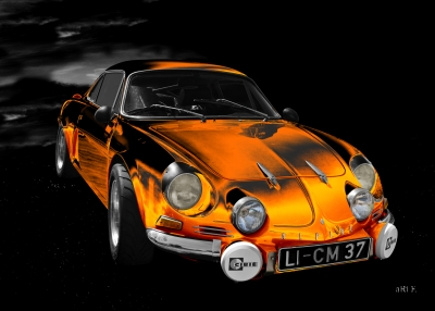 Alpine A110 Berlinette Art Car by aRi F. in Langenargen Oldtimerfotografie