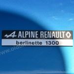 Alpine Renault Berlinette 1300 Plakette am Heck