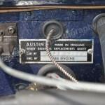 Austin-Healey 3000 Mk II Typenschild