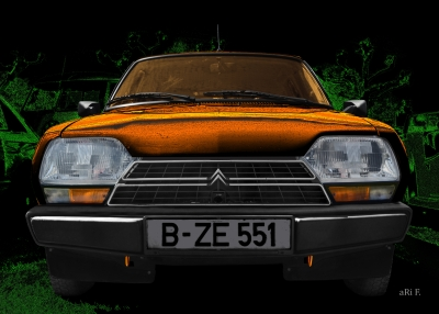 Citroen GSA Art Automobile Poster