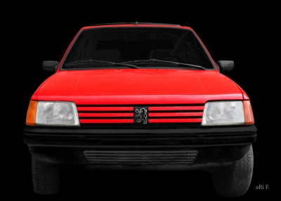 Peugeot 205 Poster in Originalfarbe bei Ohmyprints