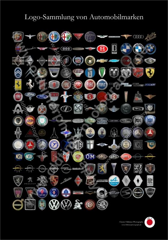 176 Logos Automobilfirmen / Automobilmarken