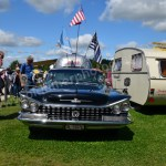 Buick LeSabre 1958–1961 mit Airstream Caravan bei Hymer Museumsfest 2017