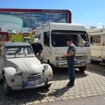 Citroen 2 CV und Wohnmobil Opel Bedford Blitz 2,3 L beim Hymer Museumsfest 2017